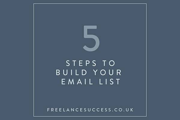 5 Steps to Build an Email List