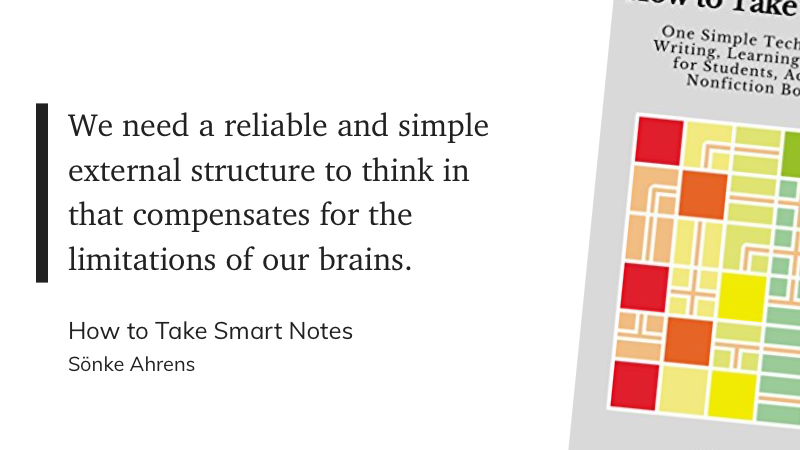 Productivity books for freelancers: how to take smart notes